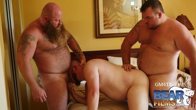 Gay sex - Rusty G, Gunner Scott, Sid Morgan from BearFilms