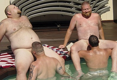 gay sex pool party