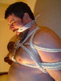 Matchless Daddy bear bondage absolutely