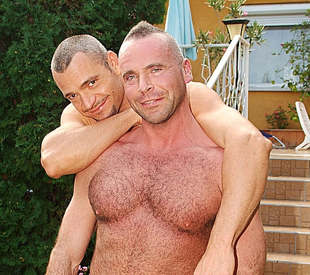 behind the scenes with greg and tomi s pool video greg s huge chest ...: hairybearsxxx.com/naked-men/category/butch-dixon-models