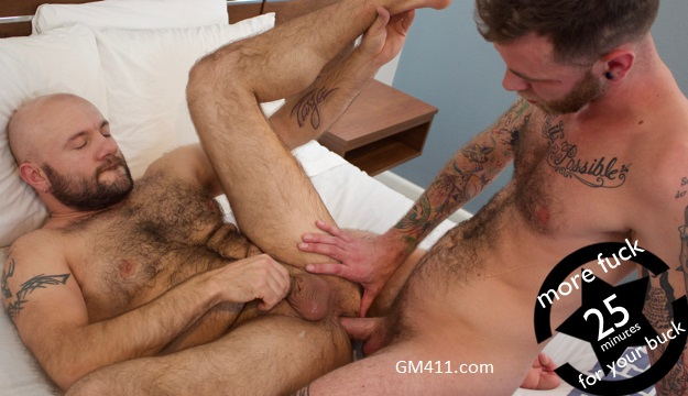 Gay sex - Ryan Powers and hairy Thomas from GuyBone